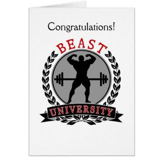 Cartão dos parabéns do Bodybuilding da