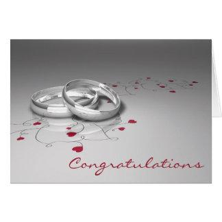 Cartão dos parabéns do casamento