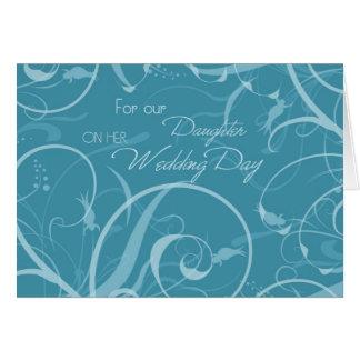 Cartão dos parabéns do casamento da filha de