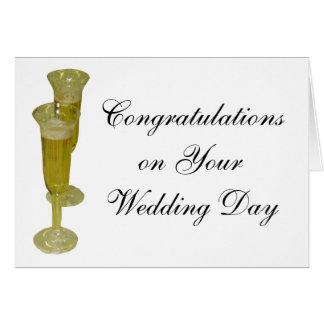 Cartão dos parabéns do casamento - vidros festivos