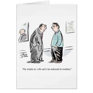 Cartão dos parabéns do negócio engraçado