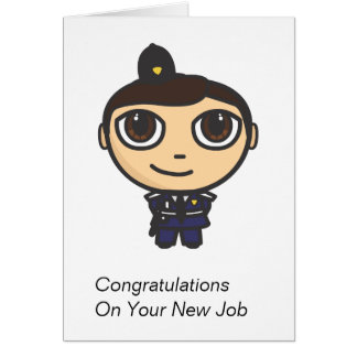 Cartão dos parabéns do personagem de desenho