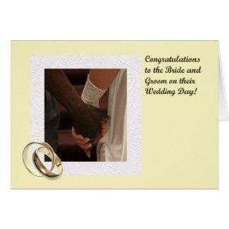 Cartão dos parabéns dos noivos