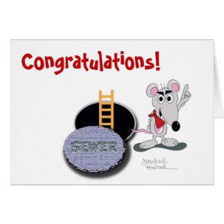 Cartão dos parabéns - o rato o mais esperto