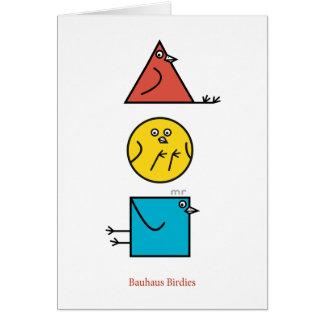 Cartão dos passarinhos do Bauhaus