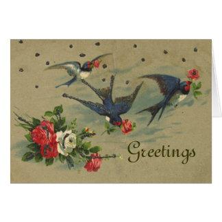 Cartão dos pássaros