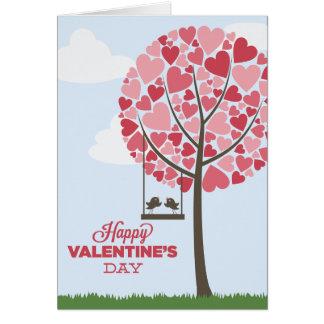 Cartão dos pássaros do amor do feliz dia dos namor