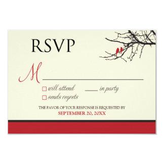 Cartão dos pássaros RSVP do amor Convite 8.89 X 12.7cm