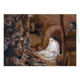 """Cartão dos pastores de Tissot """"a adoração"""""""