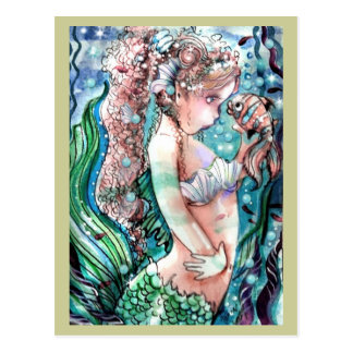 Cartão dos peixes da sereia & do palhaço