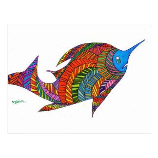 Cartão dos peixes de Herringbone de Harry