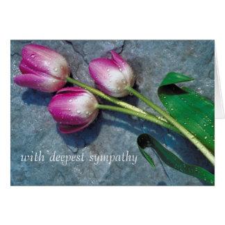 Cartão dos pêsames das tulipas