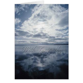 Cartão dos pêsames do céu e da água