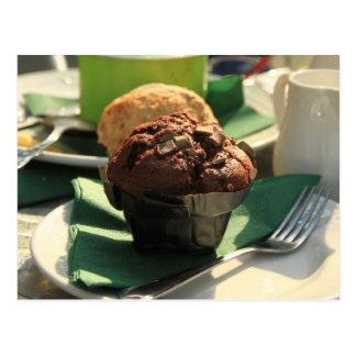 Cartão dos petiscos do muffin do chá
