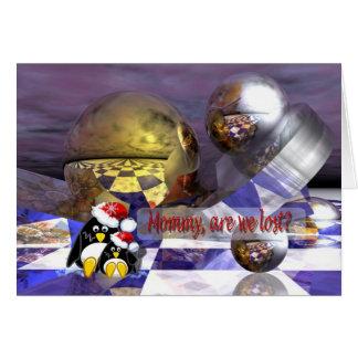 Cartão dos pinguins da ficção científica
