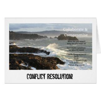 Cartão dos pontos-chave da resolução do conflito