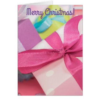 Cartão Cartão dos presentes do Feliz Natal