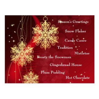 Cartão dos presentes do Natal