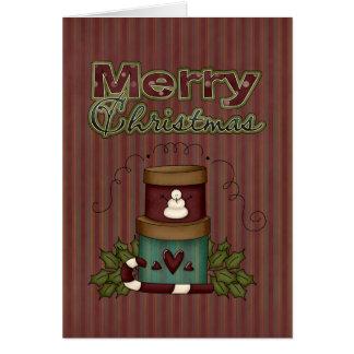 Cartão dos presentes do Xmas da coleção do Natal