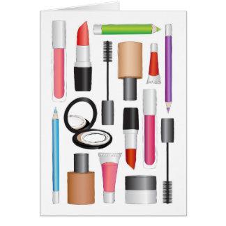 Cartão dos produtos de beleza