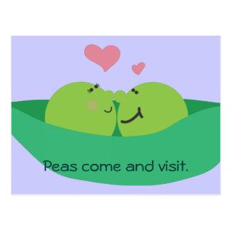 Cartão dos queridos do vagem de ervilha
