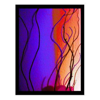 Cartão dos ramos da luz