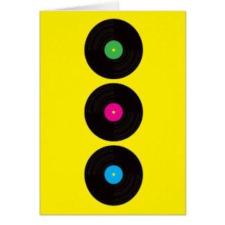 Cartão dos registros de vinil