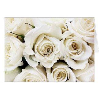 Cartão dos rosas brancos