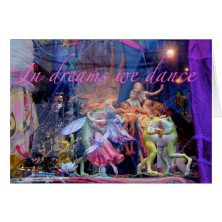 Cartão dos sapos da dança