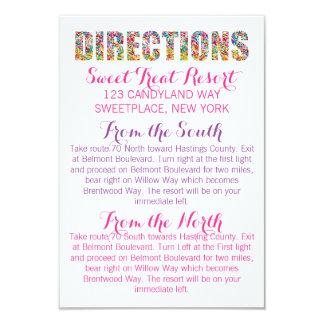 Cartão dos SENTIDOS do tema dos doces