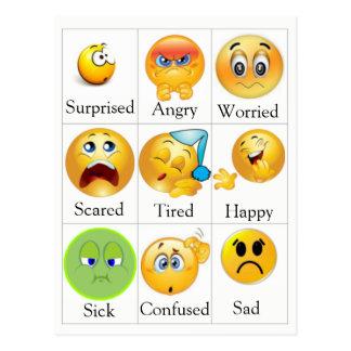 Cartão dos sentimentos - CPE. O texto pode ser