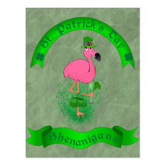 Cartão dos Shenanigans do dia de St Patrick