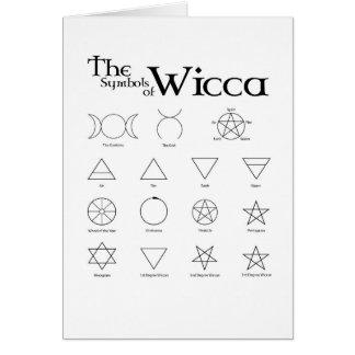 Cartão dos símbolos de Wicca