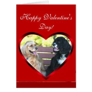Cartão dos Spaniels de Cocker do feliz dia dos