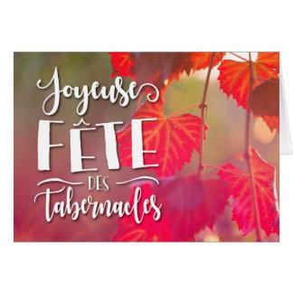 Cartão dos tabernáculos do DES do Fete de Joyeuse