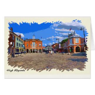 Cartão dos trabalhos de arte de High Wycombe