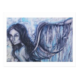 Cartão dos trabalhos de arte do anjo da aguarela