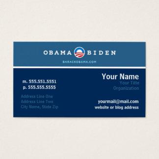 Cartão dos trabalhos em rede da campanha de Obama