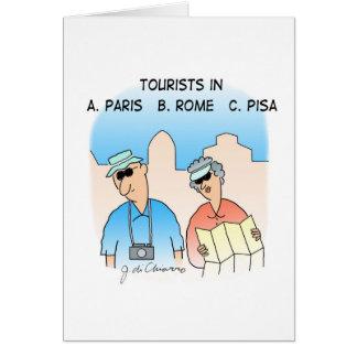 CARTÃO dos turistas
