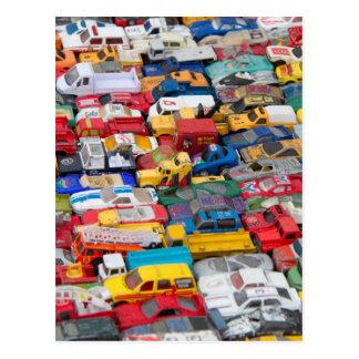 Cartão dos veículos do brinquedo