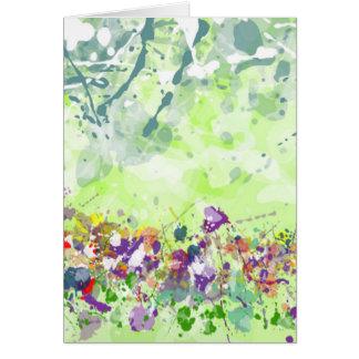 Cartão dos Wildflowers - vazio para dentro