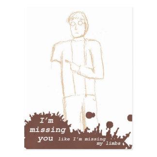 """Cartão dos zombis - """"eu falto você… """""""