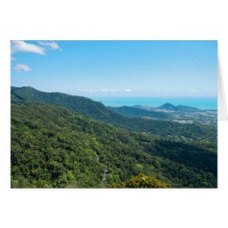 Cartão Dossel do desfiladeiro de Barron e mar coral