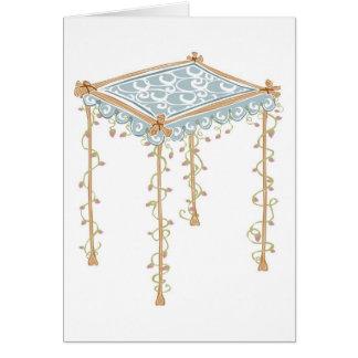 Cartão Dossel ornamentado do casamento judaico