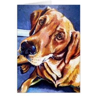 cartão dourado do cão de Labrador