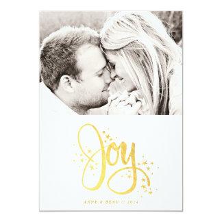 Cartão dourado do feriado da foto da alegria