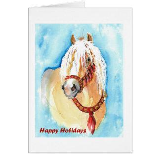 Cartão dourado do feriado do Palomino