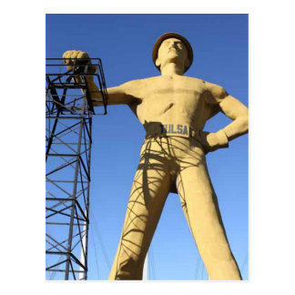 Cartão dourado do perfurador de Tulsa
