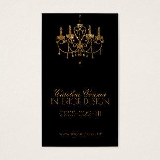 Cartão dourado do preto do designer de interiores