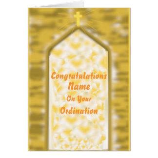 Cartão dourado dos parabéns da classificação da